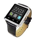 A8-2 se trata de un metal de la correa de cuero caso relojes inteligentes, el apoyo del sistema de manzana androide, bluetooth apoyo 4.0