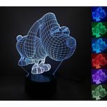 visuell 3d stora ögon hundmodell humör atmosfär ledde dekoration usb bordslampa färgglada gåva nattlampa