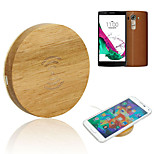 Wooden Qi Wireless Charger USB Charging Pad for LG G4 / Samsung