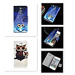 Cartoon Pattern PU Leather Full Body Case for iPhone 4/4S