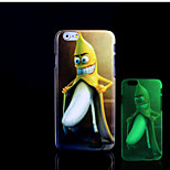 Banana Pattern Glow in the Dark Hard Plastic Back Cover for iPhone 6 for iPhone 6s Case