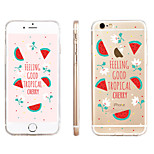 Watermelon Pattern Transparent TPU Material Phone Case for iPhone 6/ 6S