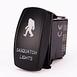 Iztoss 5pin Laser SASQUATCH Rocker Switch ON-OFF LED Light 20A 12V Blue