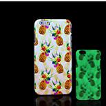 ananas modello bagliore sulla cover posteriore in plastica dura scuro per iphone 6 per caso 6s iphone