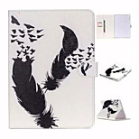 Black White and Double Feather TPU Textile Cloth Card Slot Stents The Cladding For Apple iPad Air