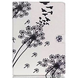 Birds and dandelion TPU Textile Cloth Card Slot Stents The Cladding  For Apple iPad 4/3/2