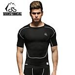 Vansydical Hombres Secado rápido Fitness Tops Blanco / Gris claro / Negro / Azul / Verde Claro / Naranja