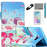 COCO FUN® Dandelion Lover Pattern PU Leather Case Cable Film and Stylus for Samsung Galaxy S6/S6 EDGE/S6 EDGE PLUS