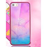 hot pink ragazza carina di stampa speciali lusso arte dipinta tpu&telaio placcatura pc posteriore cassa del telefono per iphone 6 6s