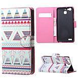 Triangles Pattern  Magnetic PU Leather wallet Flip Stand Case cover for Huawei Ascend P9