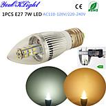 youoklight® 1st E27 7w 500lm 3500 / 6500k 28 * smd2835 super ljusstyrka hög kvalitet ledde levande ljus ac110-120v / 220-240V
