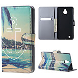 Beach and Anchor  Magnetic PU Leather wallet Flip Stand Case cover for Nokia Microsoft Lumia 850