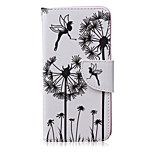 Dandelion Pattern PU Leather Material Flip Card Phone Case for LG Nexus 5x