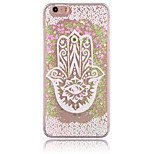 Palm Flower Pattern PC Material Stereoscopic Love Quicksand Phone Case for iPhone 6 / 6S