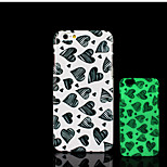 Heart Pattern Glow in the Dark Hard Plastic Back Cover for iPhone 6 for iPhone 6s Case