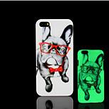 cagnolino modello bagliore sulla cover posteriore in plastica dura scuro per iphone 5 per caso iphone 5s