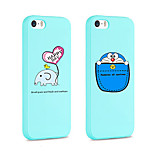 iFashion® Blue Color Small Elephant And Pocket Cat Pattern Silicone Soft Case for iPhone 5/5s