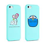 ifashion® de color azul pequeño elefante y el gato bolsillo patrón de silicona caso suave para el iphone 5 / 5s