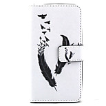 Feather Pattern PU Leather Stand Card Slot Case for LG Bello D337
