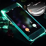 nouvel appel conduit clignoter retour pc couvercle transparent pour iPhone 6 / 6s (couleurs assorties)