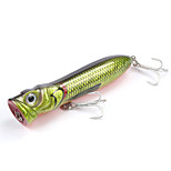 Mizugiwa Bass Pike Fishing Lure Hard Bait Walleye Crappie Tackle Top Water Surface 30g 110mm Green Color
