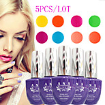 (Choose 5) 5PCS ANA Nail UV 15ml 200 Fashion Color Long-lasting LED Gel Polish Top Fashion