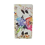 Modelo de mariposa colorido caso del tirón del cuero para el iphone 5 / 5s bolsas de cubierta