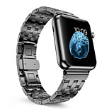 Stainless Steel Replacement Strap For Apple Watch Double Button Metal Clasp Classic iWatch Wristband