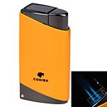 5519 podwójny otwór niebieski ogień wiatroszczelna latarka -czarny, żółty