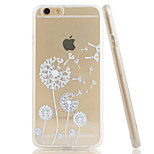 Dandelion Embossment Dull Polish Side + Transparent TPU Soft Phone Case for iPhone 6/6S