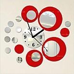 Fashion Top Grade  Creative DIY  Acrylic Mirror Wall Wall Poster Colours Roundness Wall Clock