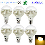 Ampoules Globe Décorative Blanc Chaud YouOKLight 6 pièces B E26/E27 9 W 15 SMD 5630 700 LM AC 100-240 V