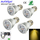 4 Stück YouOKLight Dekorativ Spot Lampen A50 E26/E27 5 W 450 LM 3000 K 5 High Power LED Warmes Weiß AC 220-240 / AC 110-130 V