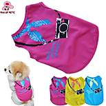 Dog Costumes / T-Shirt - XS / S / M / L - Summer - Blue / Yellow / Rose - Wedding / Cosplay / Birthday / Holiday / Fashion - Cotton
