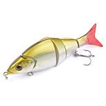 Mizugiwa Jointed Life-like Swimbait Hard Fishing Bass Bait Suspend Lure 22g 12.8cm Color Yellow