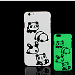 Panda Pattern Glow in the Dark Hard Plastic Back Cover for iPhone 6 for iPhone 6s Case