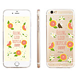 Grapefruit Pattern Transparent TPU Material Phone Case for iPhone 6/ 6S