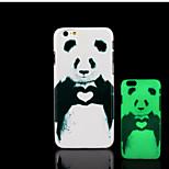 patrón de la panda de brillo en la cubierta trasera de plástico duro oscuro para el iphone 6 para el caso 6s iphone