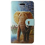 Orange Elephant Painted PU Phone Case for Huawei P8 Lite/P8/Y530