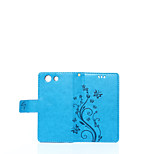Solid Dragon Pattern Holster Around Open Wallet for Sony Z4Mini/Z3Mini/ Xperia M2(Assorted Colors)