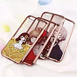 Mobile Phone Sets Of Electroplating TPU Little Girl Painted Diamond Soft For IPhone 6/6s (Assorted Colors)