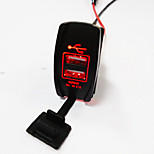 lossmann Double USB Socket Standard ARB Carling Switches Cutouts Car Boat Charger 5V 3.1A.