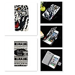Cool Word Nu Tiger Pattern PU Leather Full Body Case for iPhone 5/5S