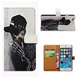 Coloured Drawing or Pattern Good Quality PU Leather Flip Case Mobile Phone Holster for iPhone5/5S