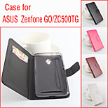 Flip Leather Magnetic Protective Case For Asus Zenfone GO. ZC500TG (Assorted Colors)