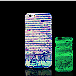Bicycle Pattern Glow in the Dark Hard Plastic Back Cover for iPhone 6 for iPhone 6s Case