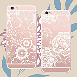 MAYCARI®White Flowers Soft Transparent TPU Back Case for iPhone5/iPhone 5S(Assorted Colors)