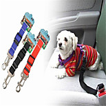 Red/Black/Blue Retractable Nylon Pet Car Seat Leashes For Dogs