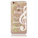 Note Pattern PC Material Stereoscopic Love Quicksand Phone Case for iPhone 6 / 6S