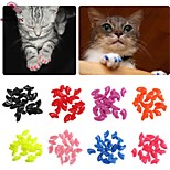 FUN OF PETS® New 20pcs/lot Soft Pet Cat/Dogs Paws Grooming Nail Claw Cap+Adhesive Glue Control Paws Caps Cover Protector